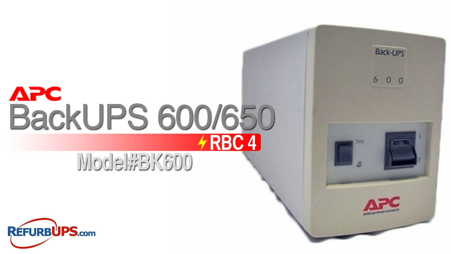APC RBC 4 in APC BackUPS 600/650