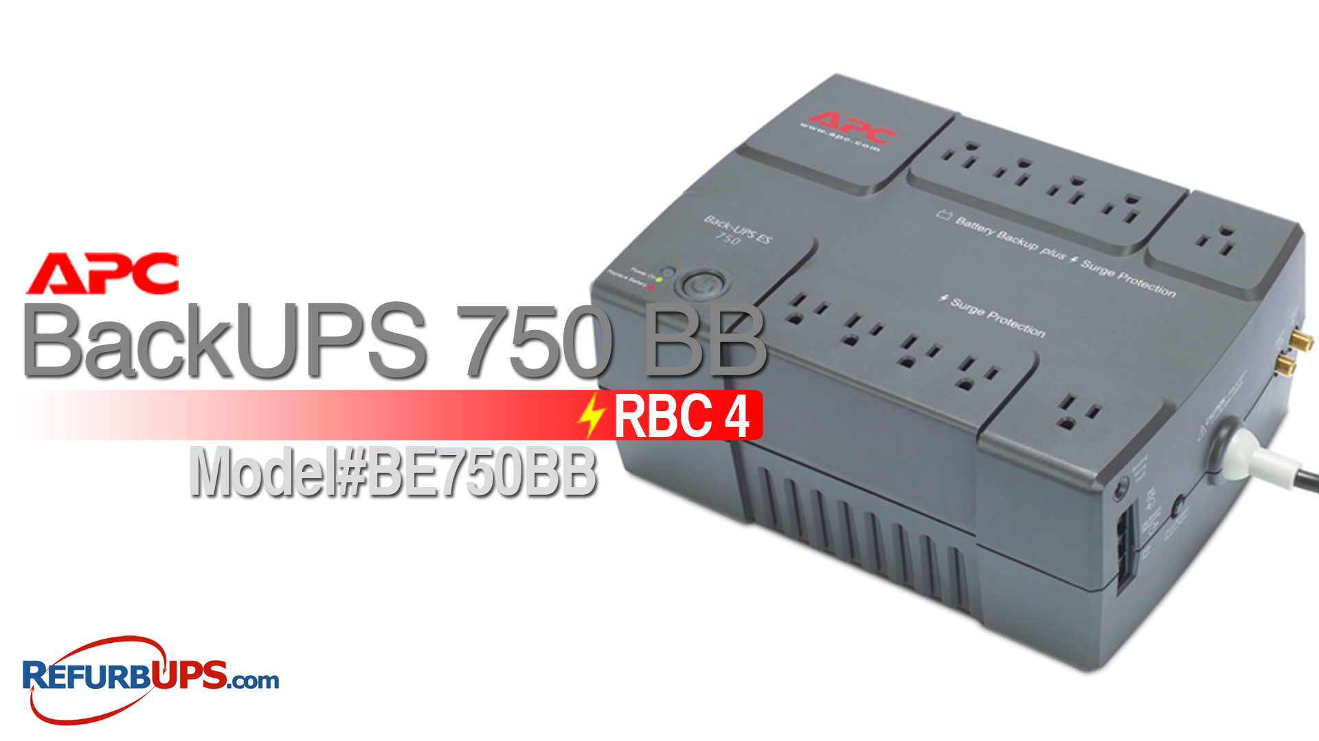 APC RBC 4 in APC BackUPS 750BB