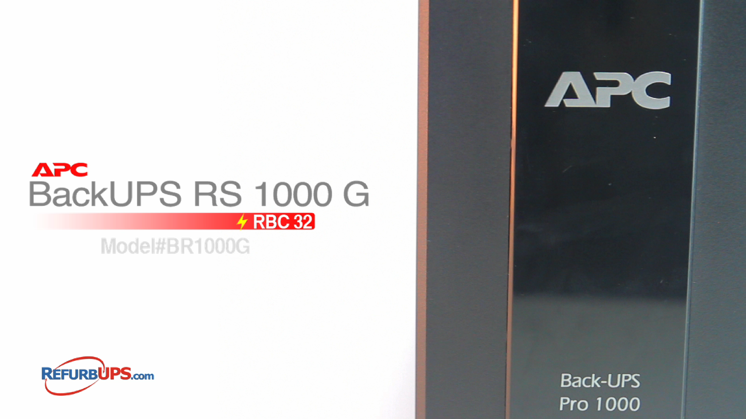 APC RBC 123/124 in APC BAckUPS RS1000G