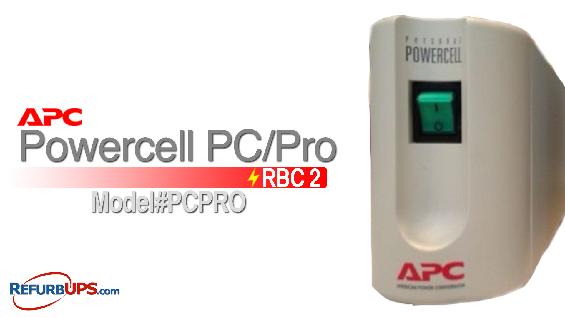 APC RBC 2 in APC PowerCell PC Pro