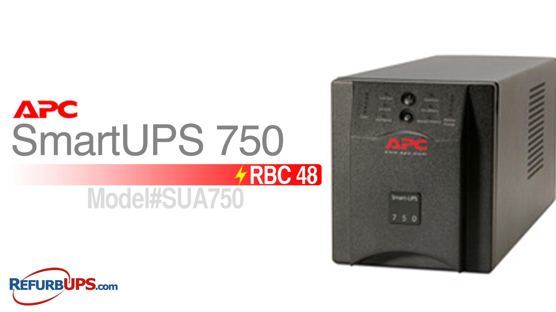 APC RBC 48 in APC SmartUPS 750