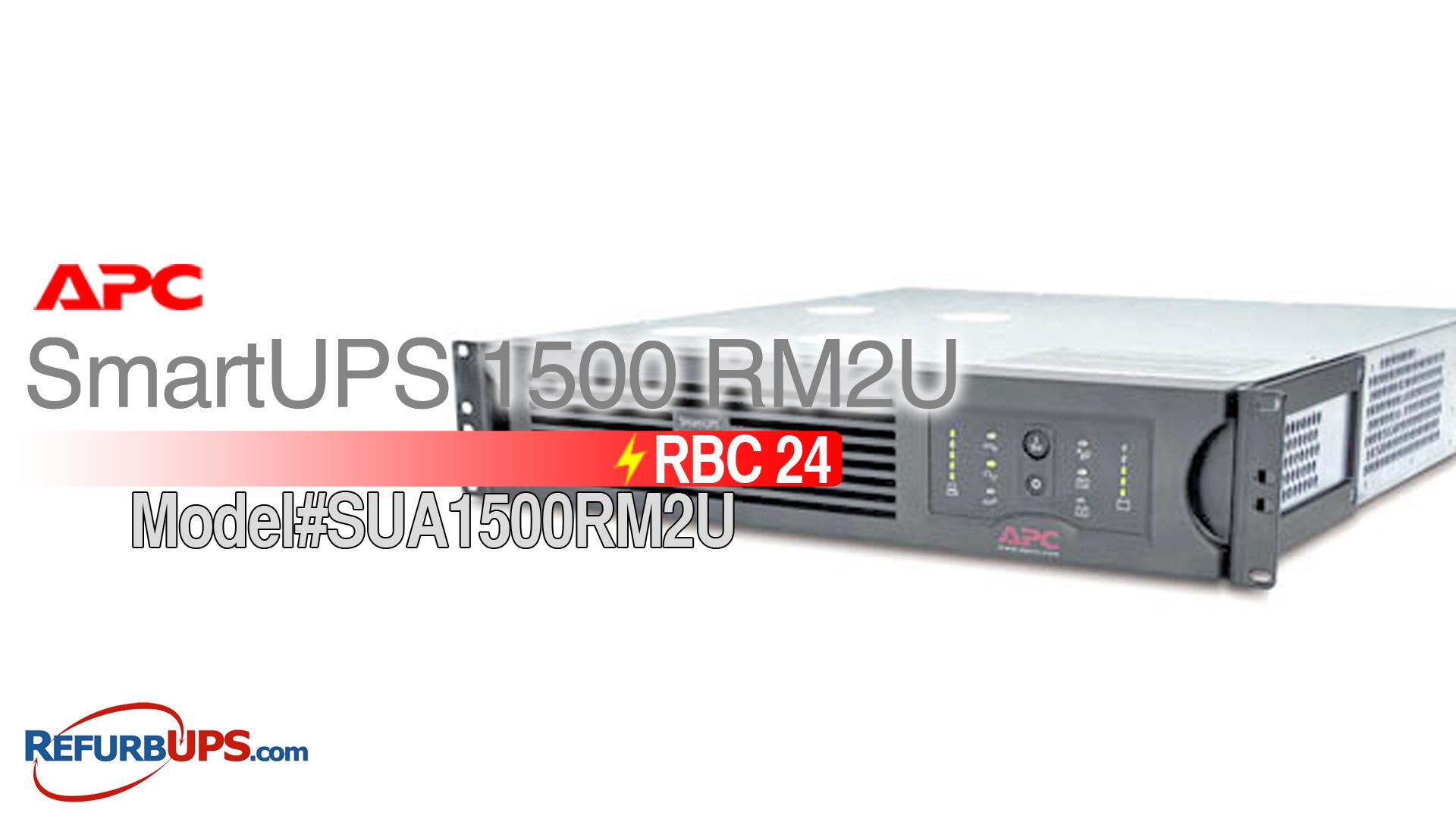 APC RBC 24 in APC SmartUPS 1500RM2U