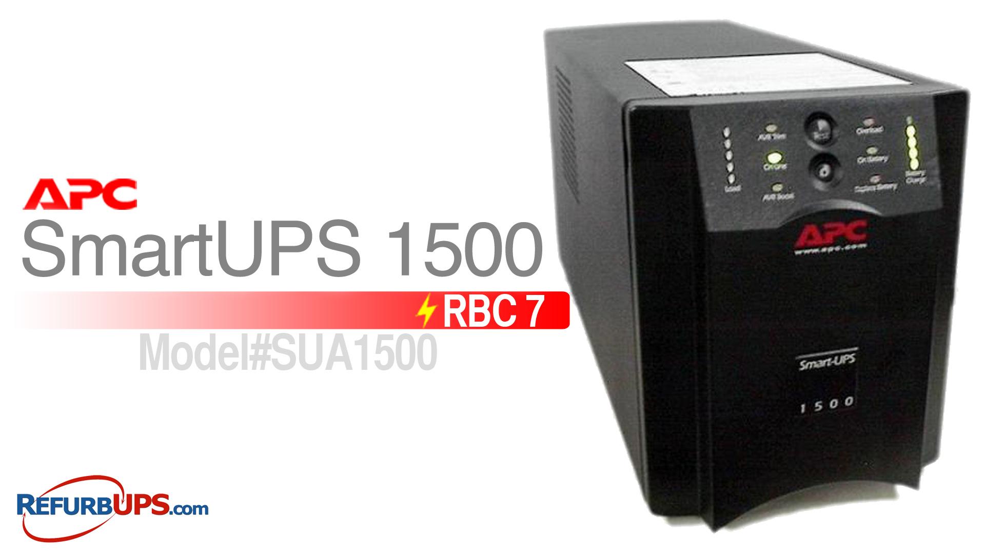 APC RBC 7 in APC SmartUPS 1500