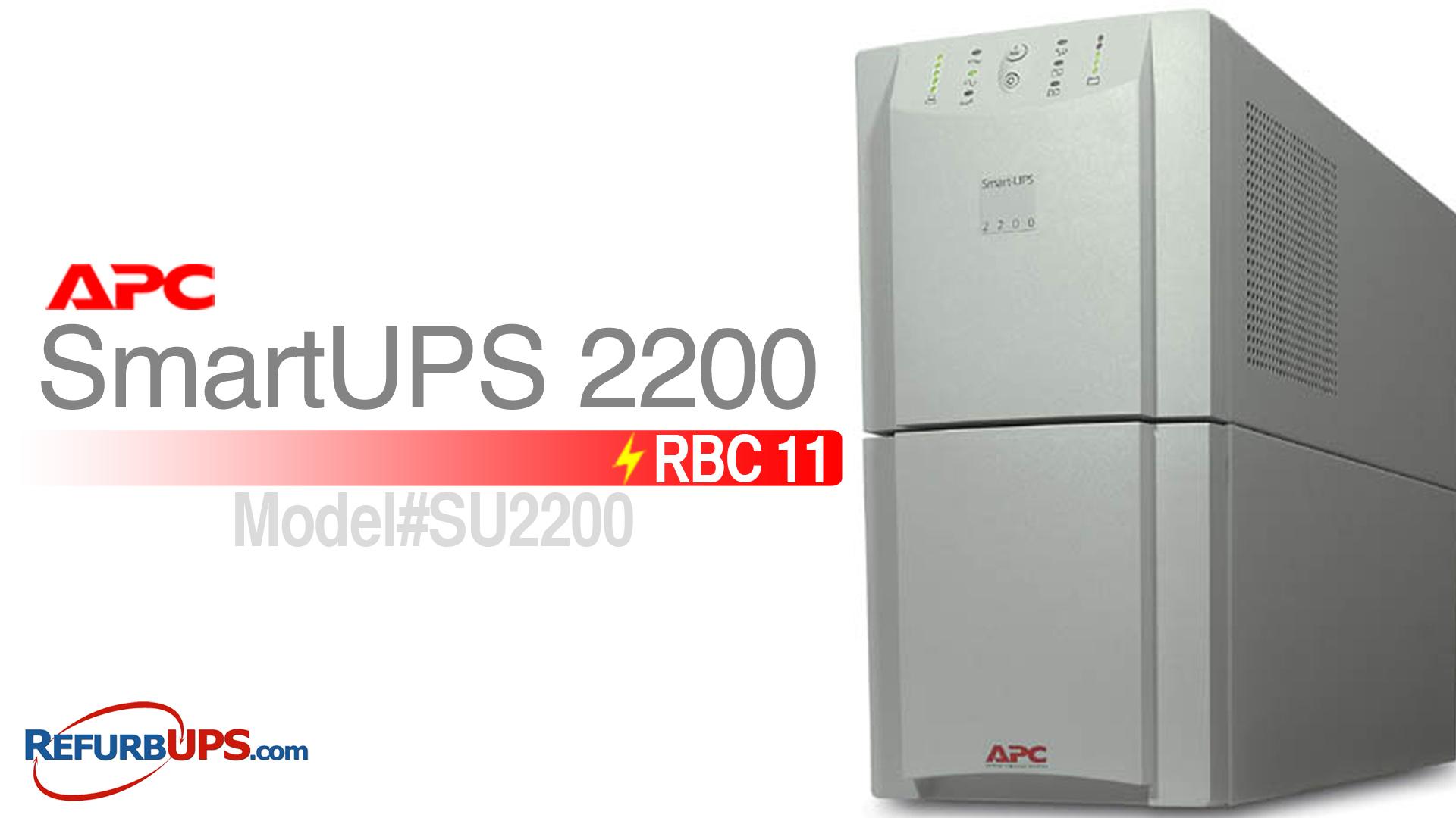 APC RBC 11 in APC SmartUPS 2200